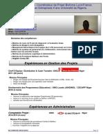 CV Chef de Projet