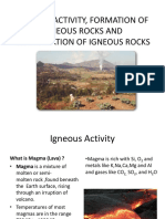 Igneous Activity Formation of Igneous Rock and Classification