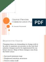 change process communication plan