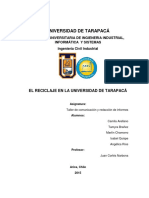 Universidad de Tarapacá -Reciclaje