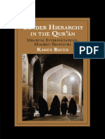 Karen Bauer Gender Hierarchy in the Qurān Medieval Interpretations, Modern Responses