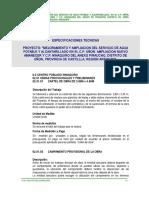 Esp. Tec. Sistema de Agua Potable- Ninaquiro Revision