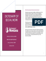 Dictionary of Social Work