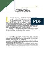 Teora Del Derecho y Sociologa Del Derecho El Dictionaire Deguilles 0