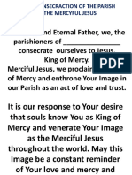 Act of Consecration of the Parish