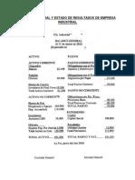 Balance General y Estado de Resultados de Empresa INDUSTRIAL