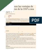 Cuáles Son Las Ventajas de Trasladarse de La ONP a Una AFP