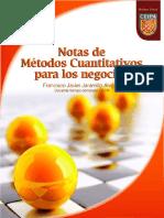 Notas de Metodos Cuantitativos 2014
