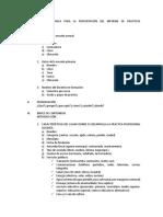 Estructura Metodológica Para La Presentación Del Informe de Prácticas Profesinales