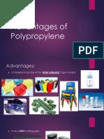 Advantages of Polypropylene