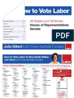 National How to Vote Labor Card