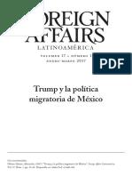 Sesión 2. Trump y La Política Migratoria de México. Délano Alonso, Alexandra