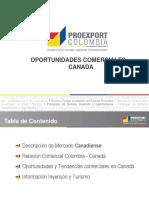 Oportunidades Comerciales en Canada