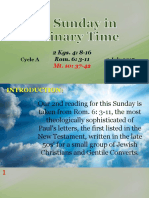 Bishops Homily - 13th Sunday in Ordinary Time