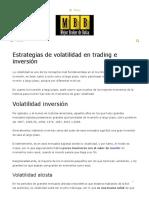 Estrategias de Volatilidad en Trading e Inversión - Mejor Broker de Bolsa