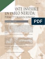 La Amante Invisible en Pablo Neruda