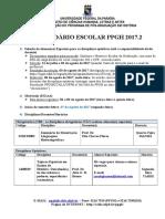 Calendário 2017.2 Ppgh