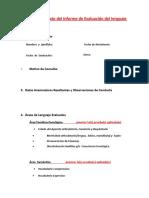 Modelo de Informe en Los Casos de Retrasos de Lenguaje