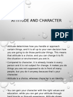 Attitude and Character