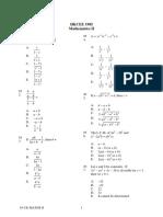1985 Mathematics Paper2