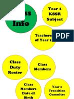 Class Info Print