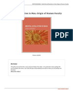 Mental Evolution in Man Origin of Human Faculty