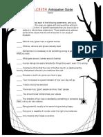 Macbeth Anticipation Guide