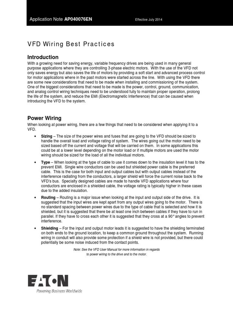 vfd wiring best practices ap040076en pdf cable electrical wiring rh es scribd com