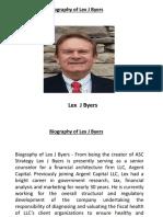 Biography of Lex J Byers