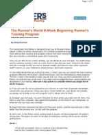 Beginner Running 8-Week Program