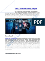 Digital Cyber Security Customized Learning Program