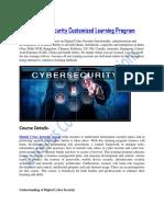 Digital Cyber Security Customized Learning Program