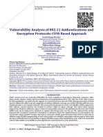 Vulnerability Analysis of 802.11 Authentications and Encryption Protocols