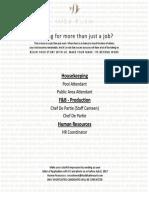 KF018 Job Advertisement