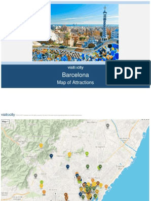 Barcelona Map of Attractions | Barcelona | Art Media