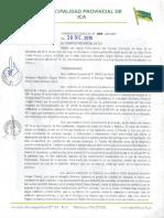 MUNICIPIO PROVINCIAL ICA Acuerdo de Concejo 098-2015-MPI