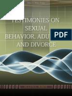 Testimonies on Sexual Behavior Adultery and Divorce