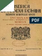 Biserica Orthodoxă Romană Jurnal Periodic Eclesiastic, 56, nr. 11-12, noiembrie-decembrie 1938.pdf
