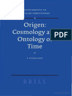 Origen Cosmology and Ontology of Time Supplements to Vigiliae Christianae Supplements to Vigiliae Christianae
