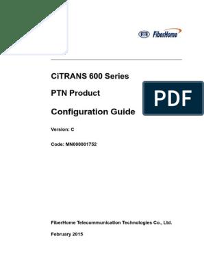 CiTRANS 600 Series PTN Product Configuration Guide | Login