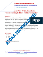FPGA-Based Pulse-Width Modulation Control for Single-Phase Multilevel Inverter