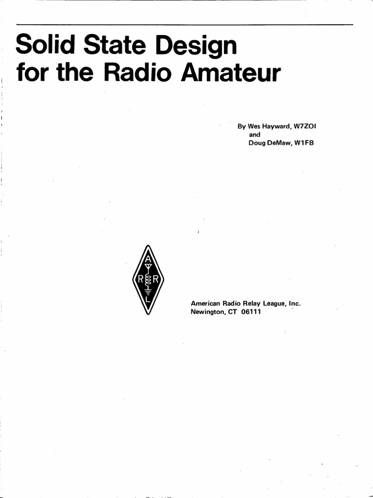 Solid State Design For The Radio Amateur_1986 | Transistor | Diode