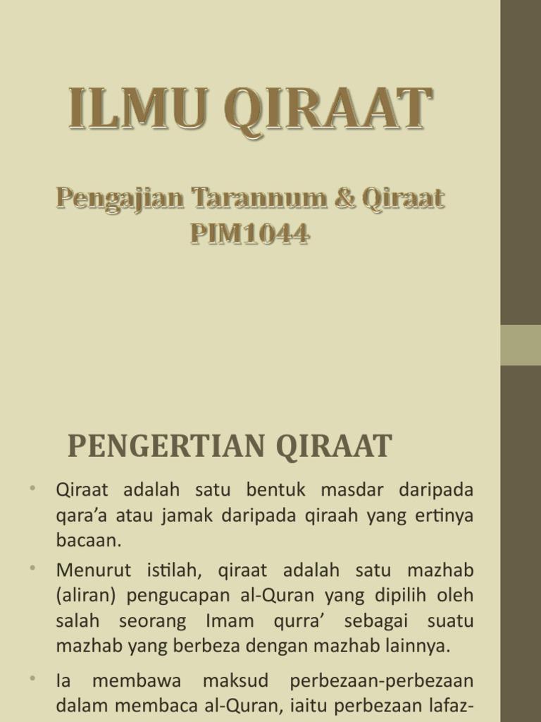 Mabadi Ilmu Qiraat
