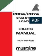 Mustang Skid steer 2064/2074 parts manual