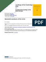 Morton symmetric product of the circle