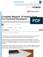 Dzone Com Articles Complete Megalist 25 Helpful Tools for Fr