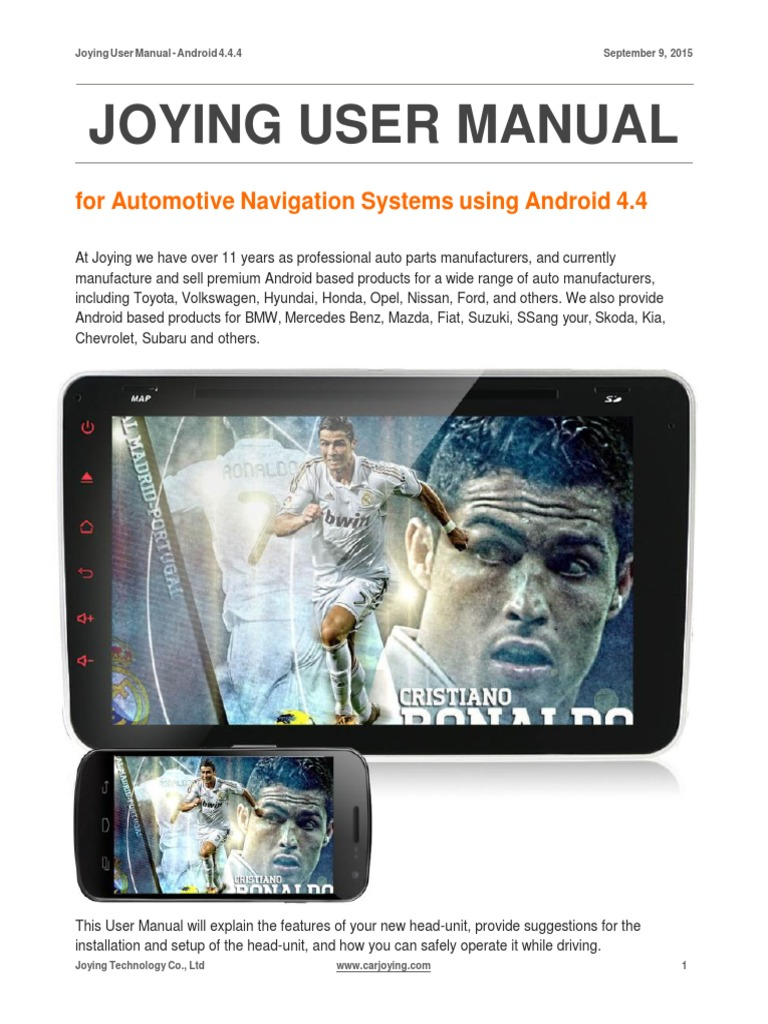 Joying User Manual | Wi Fi | Android (Operating System)