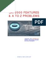 SAP2000 a-Z Problems