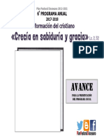 Ppd - Programa Anual 2017-2018 - Avance