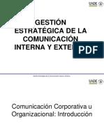 Gestin de La Comunicacin Int y Ext Clase 1